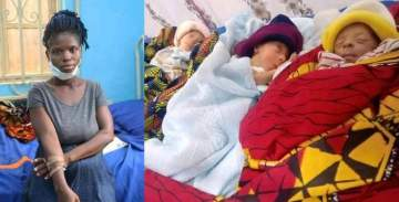 20-Year-Old Groundnut Seller And Rape Victim Gives Birth To Triplets (Photos)