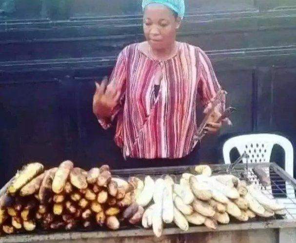 BBNaija: Throwback photos of Lucy selling roasted plantain and fish