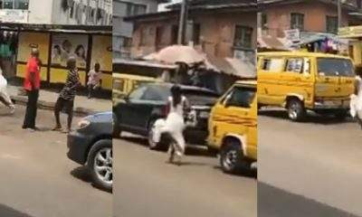 """I go talk, I go talk"" - Bride on her wedding gown screams while running helplessly on the road (Video)"