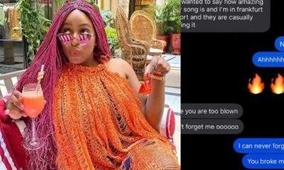 DJ Cuppy shares conversation with ex boyfriend who broke her heart