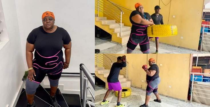 Actress, Eniola Badmus Undergoes Thorough Drilling As She Begins Weight Loss Journey (Videos)