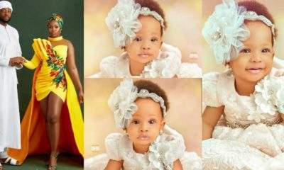 """""""My daughter too fine, no worry"""" - Teddy A and BamBam show off their daughter, Zendaya (Photos)"""
