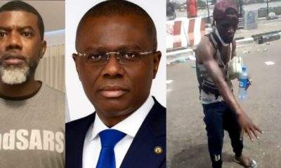#LekkiMassacre: Reno Omokri shares video of blood at Lekki toll gate, after Gov. Sanwo-Olu said there was no blood at the scene