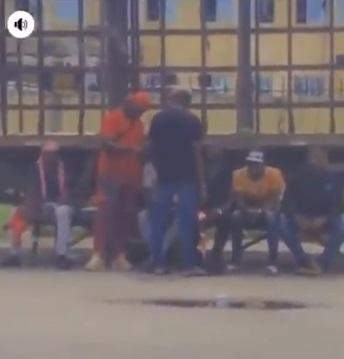 SARS Officers In Mufti Spotted Searching Phones Weeks After Disbandment Order (Video)