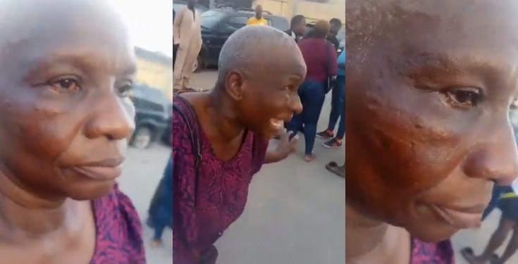 #EndSARS: Police officer allegedly slaps Oxlade's manager's mother (Video)