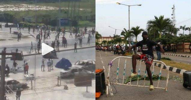 Mob overpower policemen and seize their guns in Ajah (videos)