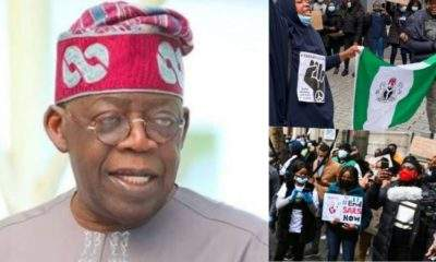 #EndSARS protesters storms Tinubu's residence in London (Video)