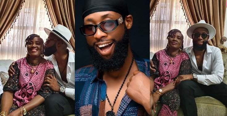 BBNaija's Tochi shows off his mum, showers her with sweet words (Photos/Video)