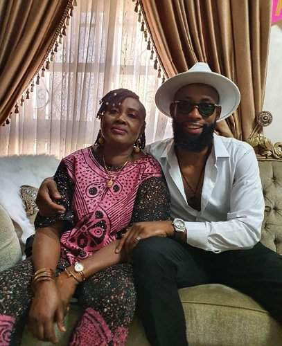 BBNaija's Tochi shows off his mum, showers her with sweet words