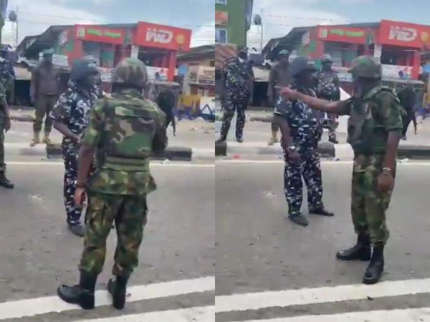 Moment Air Force Intervened And Slammed Policemen For Shooting At A Crowd (Video)