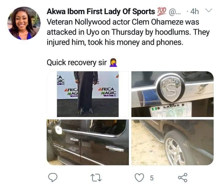 Clem Ohameze Attacked By Hoodlums