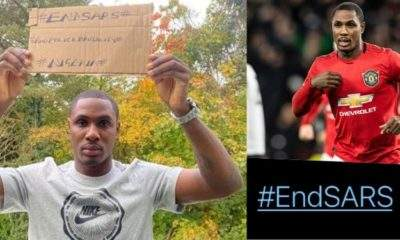 Manchester United striker, Odion Ighalo joins #EndSARS campaign