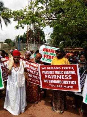 Delta Women Protest Against Ned Nwoko
