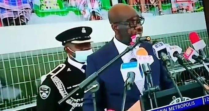 Governor Obaseki's ADC Collapses At His Swearing-In Ceremony For Second Term (Video)