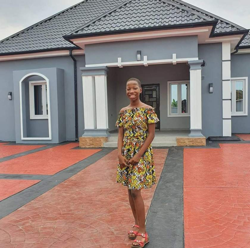 Davido reacts to video of 11-year-old Emmanuella showing off the house she built for her mom