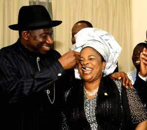 """""""I will choose you to be my husband over and over"""" - Former first lady, Patience Jonathan tells Goodluck Jonathan"""