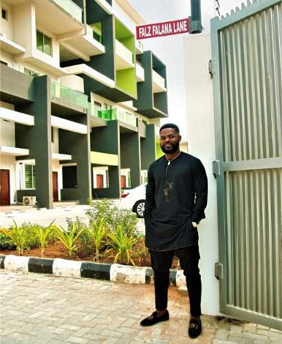 Falz excited as he's honoured with street named after him in Lagos (Photo)