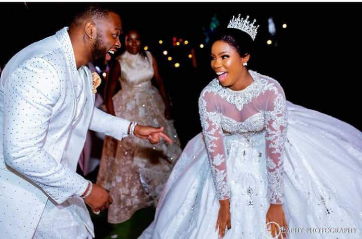 """""""Cheers to many more farting"""" - BBNaija's Bam Bam says as she celebrates 1st wedding anniversary with hubby, Teddy A"""