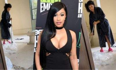 """""""Liar"""" - Fans reacts to video of Cardi B sweeping, contrary to her """"I don't cook/clean"""" verse"""