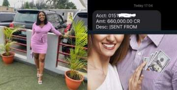 """""""Chief dey try"""" - Lady says as she shares screenshot of N660k alert from her lover"""