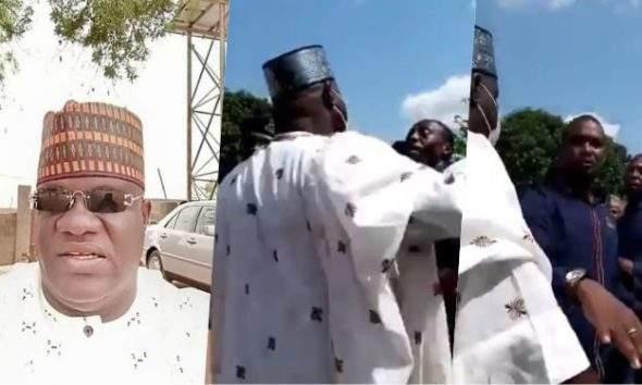 Adamawa state LG chairman caught on tape beating a mechanic (Video)