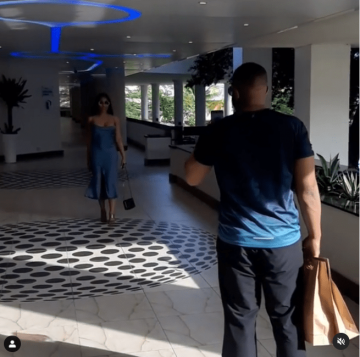 Kiddwaya spotted making a video of Erica at Eko Hotels (Video)