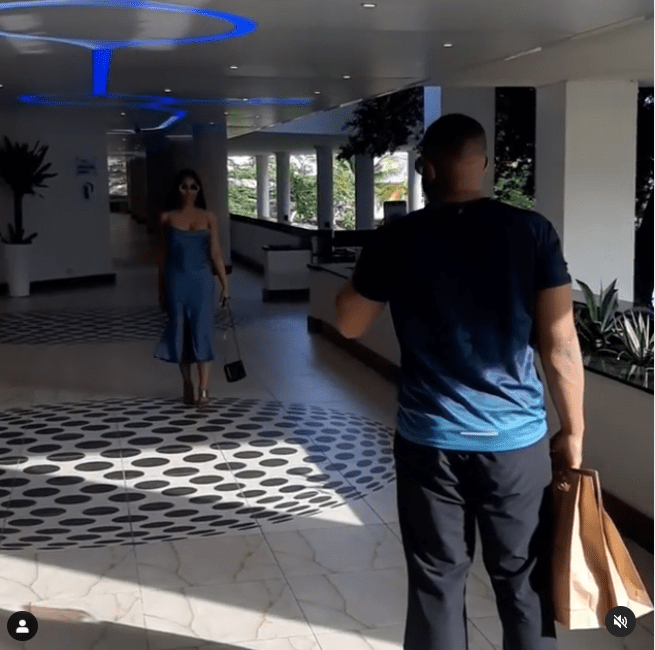 Kiddwaya spotted making a video of Erica at Eko Hotels (Video)