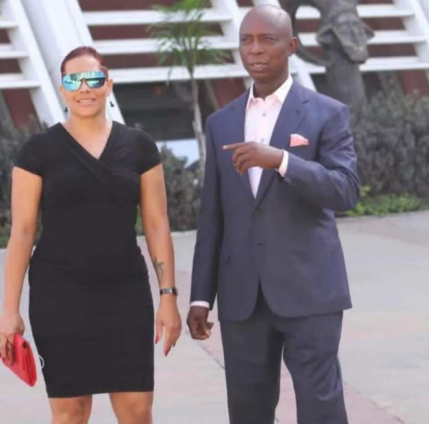 Billionaire Ned Nwoko spotted with light skinned Zambian lady (Photos)