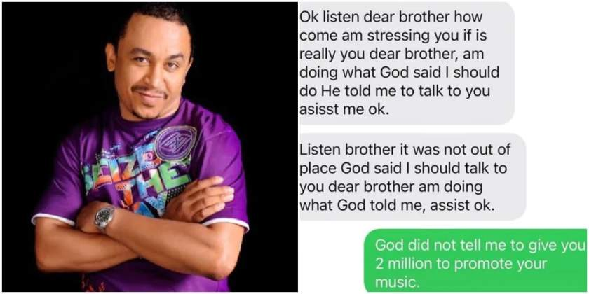 """""""God said I should tell you to give me N2m"""" - Daddy Freeze shares chat with a lady"""
