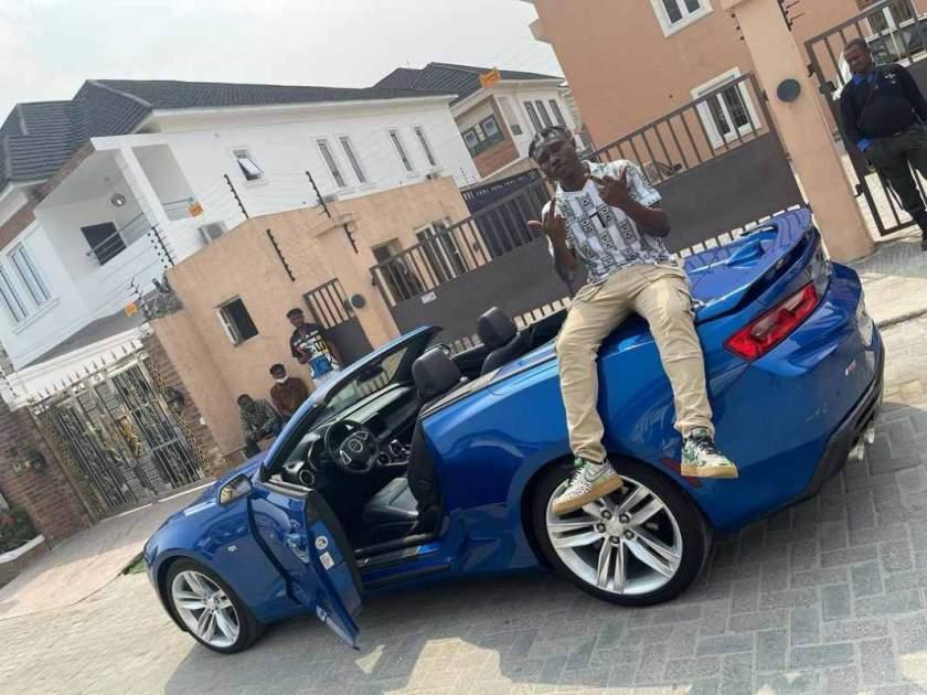 Zlatan Ibile gifts himself new car, Chevrolet Camaro worth N20M