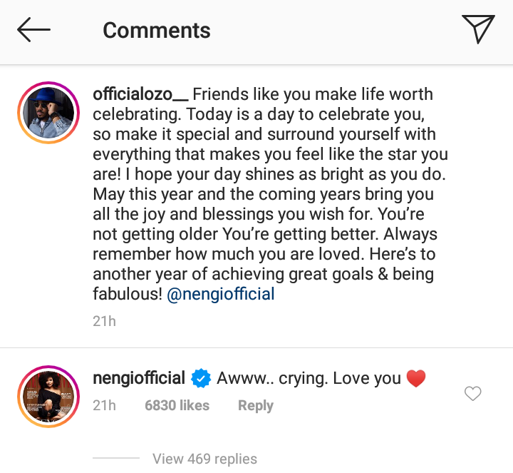 Nengi goes emotional over Ozo's message to her
