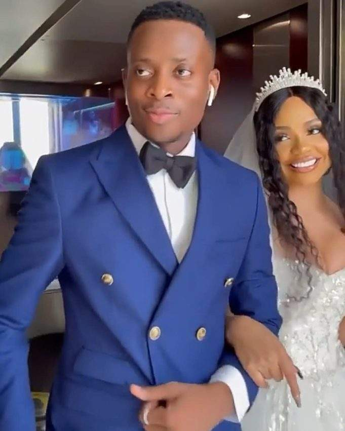 Comedian Sydney Talker ties the knot with reality star, Nengi (Video)