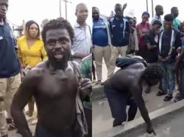"""""""When you die, you'll face 2 Judges"""" - Mad man makes shocking revelation while preaching the Gospel (Video)"""