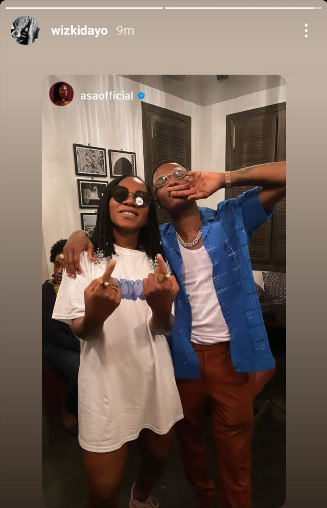 Hours after his Grammy win, Wizkid hangs out with singer Asa (video)