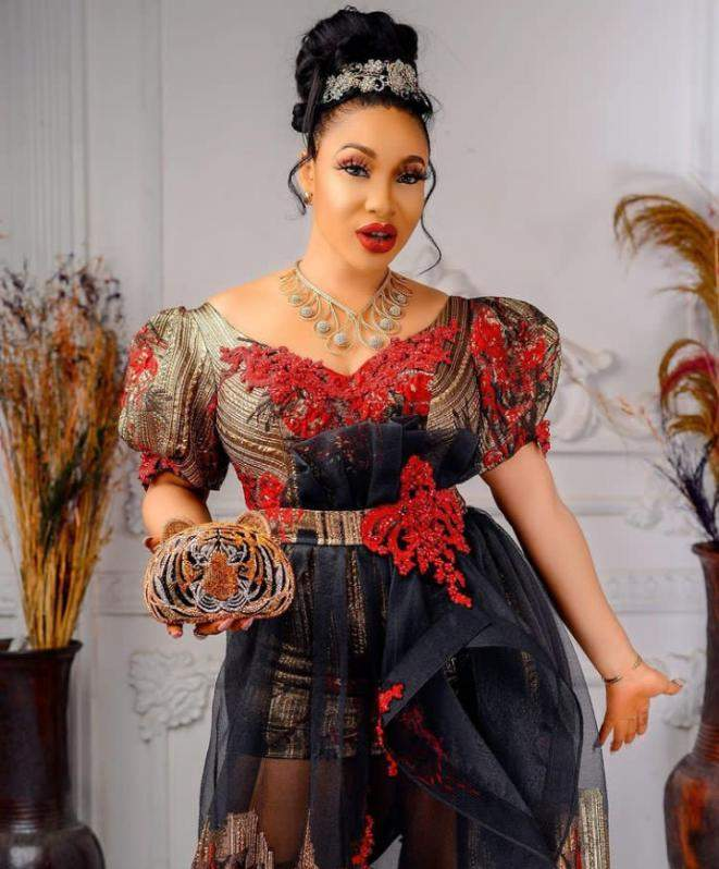 He's an extremely violent man - Tonto Dikeh speaks on Femi Fani Kayode threatening staff with a hammer
