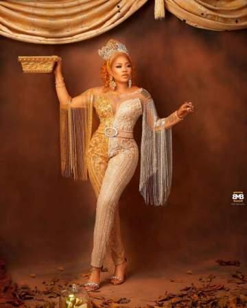 Toyin Lawani shows off wig worth N4M, says Cardi B inspired it (Video)