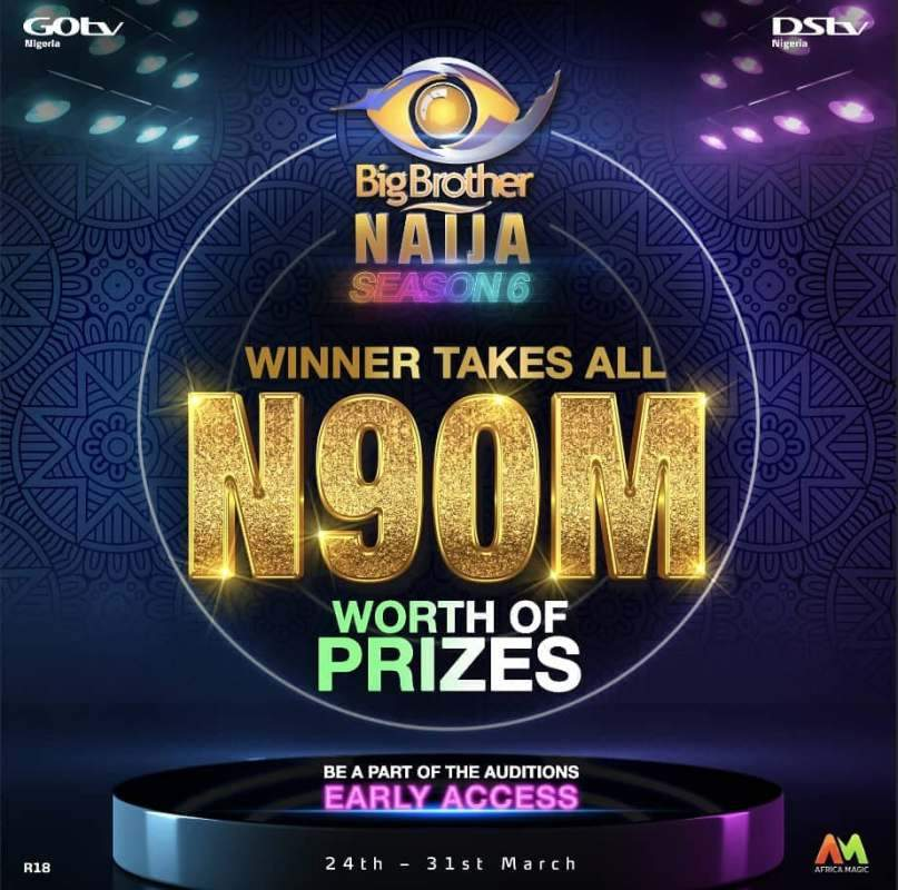 BBNaija Season 6: Multichoice announces grand prize of N90M for winner