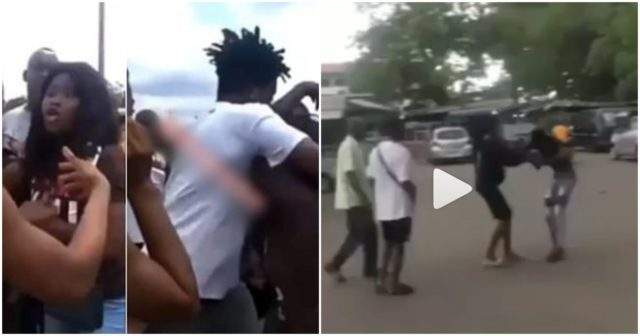 Pregnant student drags boyfriend publicly for refusing to take responsibility for her pregnancy (Video)