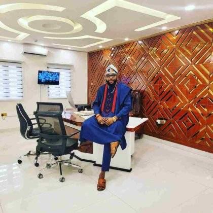E-Money goes spiritual as he shows off multi-million naira office interior (Video)