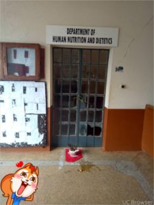 Students Of UNN Place 'Charms' And Broken Eggs In Front Of Their Lecturers' Office (Photo)