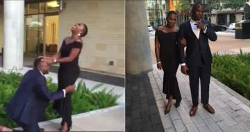 Nigerian man turns his birthday shoot to engagement shoot as he proposes to girlfriend of 6 months (Photos)