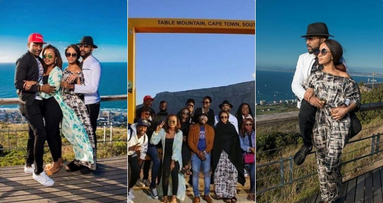 Banky W, Adesua Etomi and friends go sightseeing in South Africa ahead of their wedding (Photos)