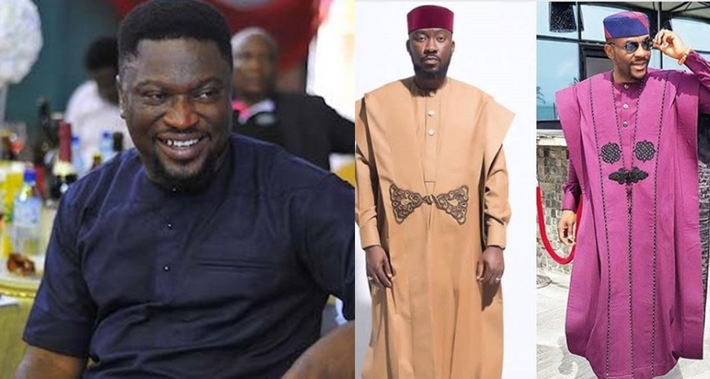 """""""This Is Not An Agbada, It's A Kimono""""- Actor Femi Branch To Ebuka And His Tailor, Ugo Monye"""