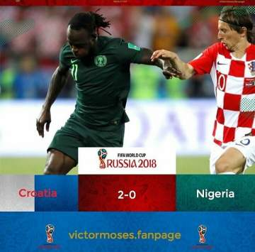 World Cup 2018: Victor Moses speaks up after Super Eagles Loss to Croatia