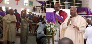 """""""You can't embarrass my wife for talking politics in church"""" - Sen. Akpabio criticises Bishop"""