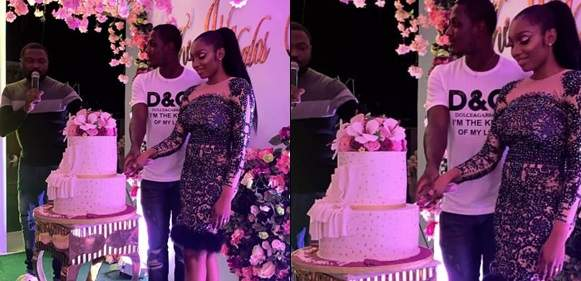 Footballer Jude Ighalo and wife, Sonia, host friends to their 9th wedding anniversary party (Photos)