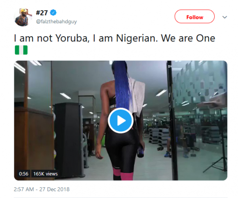 I Am Not Yoruba I Am Nigerian We Are One Falz