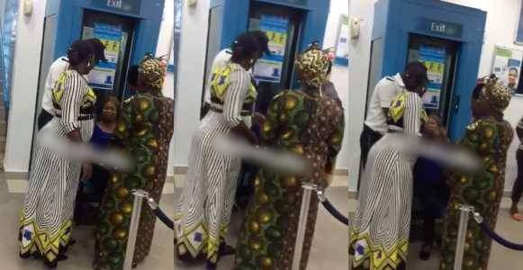 Lady Blocks Bank%E2%80%99s Entrance After Fraudsters Wiped Her Account Video