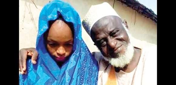 Mallam Yakubu Chanji Who Got Married To A Young Girl Adama Yakubu Tile