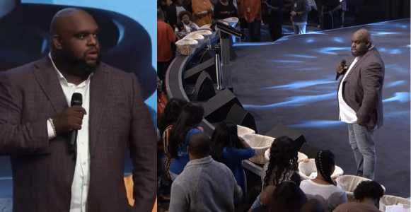 Watch The Moment US Pastor Orders Widows Single Mothers And Fathers To Take Any Amount From The Offering Baskets2